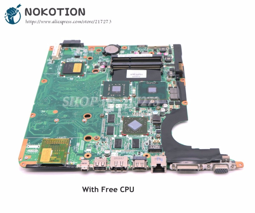 NOKOTION 578377-001 For HP pavilion DV6 DV6-1000 Laptop Motherboard PM45 DDR3 Free CPU Dsicrete graphics
