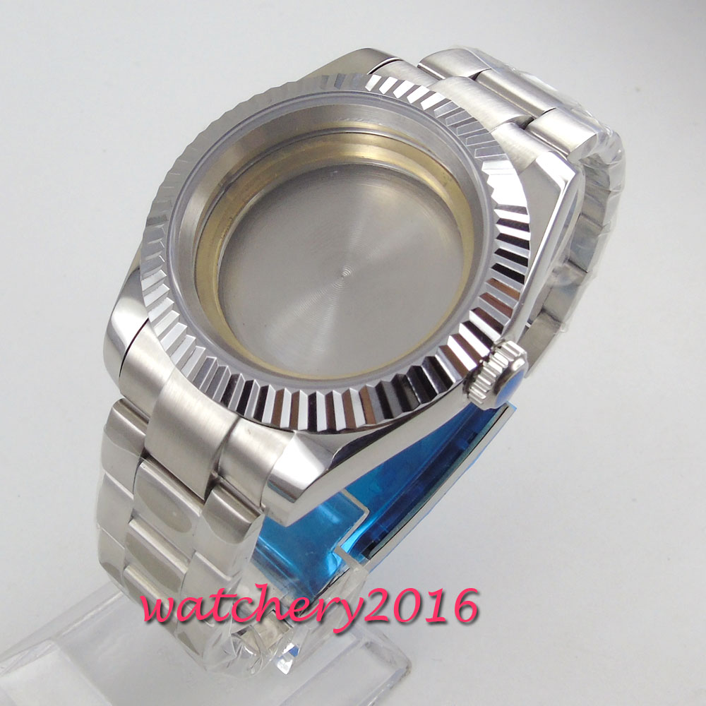 40MM 316L caja de reloj de acero inoxidable fit 2836 Miyota 8215 821A 8205 mecánica movimiento automático