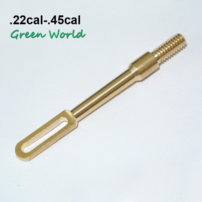 Mundo verde 1 pc/lot. Puntas de ranura de latón sólido 17cal-12GA, tirador de parche limpio de pistola, soporte de parche