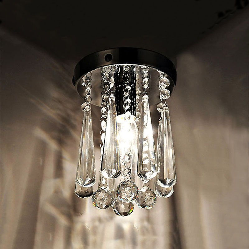 Lámpara de araña con luces LED k9 de cristal, colgante moderno, diseño redondo de pan, dormitorio, comedor, restaurante, Vestíbulo de tamaño pequeño