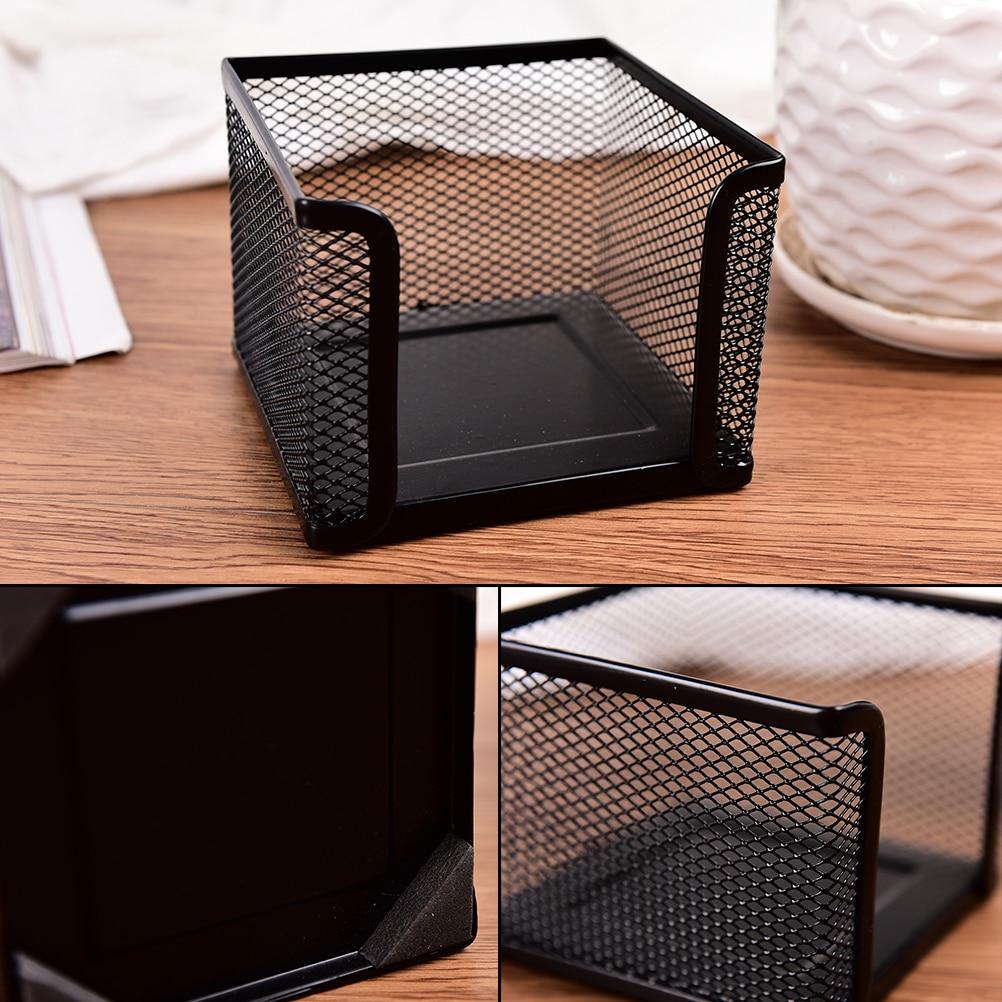 Multifunción recordatorio de plástico Pad caja de almacenamiento de escritorio organizador cajón pluma tarjeta Oficina papelería titular caja de maquillaje cosmético