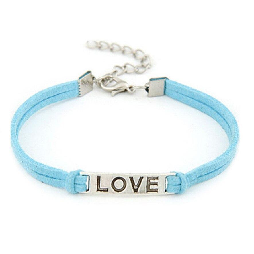 HOT Brand 1PC Women Men Love Handmade Alloy Rope Charm Jewelry Weave Bracelet Gift 11.22
