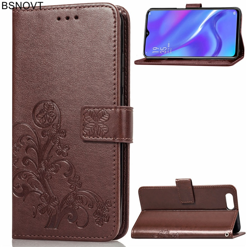 For OPPO K1 Case Soft Silicone PU Leather Card Holder Anti-knock Phone Case For OPPO K1 Cover For OP