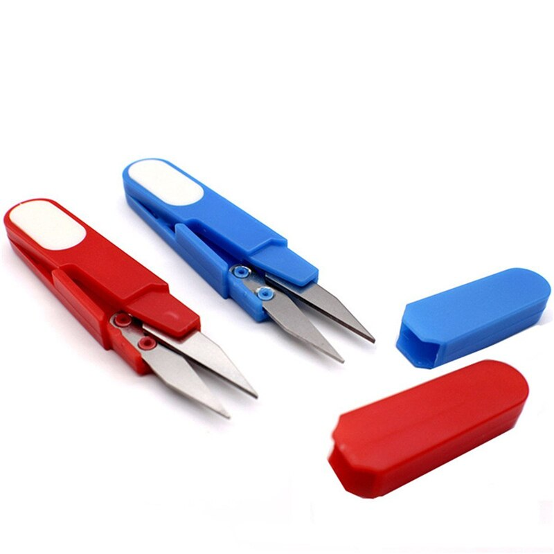 Защитные крышки для пластиковых ручек, швейные ножницы, резчик для вышивки крестиком, u-образные ножницы, принадлежности для рукоделия, инст...