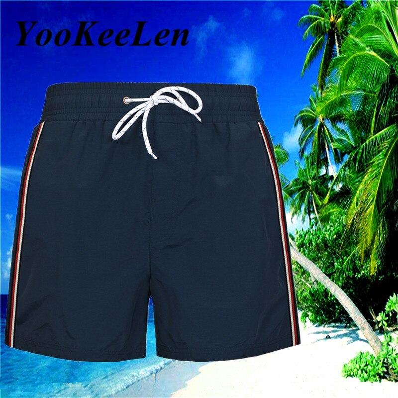 YooKeeLen 2019 летние быстросохнущие шорты высокого качества модные пляжные штаны