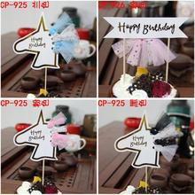 30sets Tassel Happy Birthday Alphabet Banner Cupcake Cake Topper Children Party Decoration Flag Eenhoorn Verjaardag