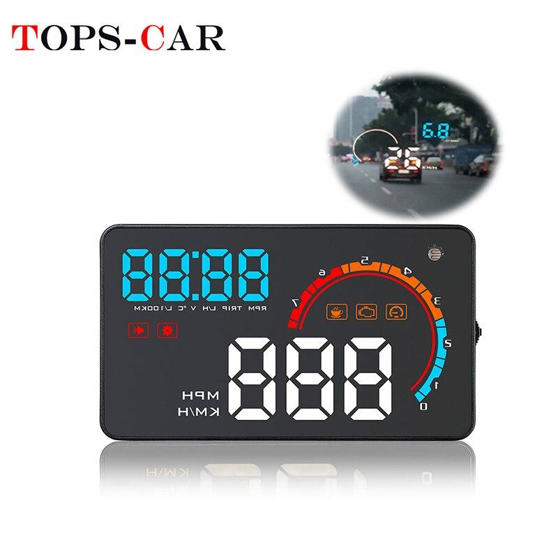 Geyiren d2000 carro obd2 gps hud velocímetro obdii head-up display velocidade rpm consumos de combustível dashboard brisa projetor