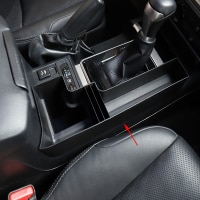 For Toyota Land Cruiser Prado FJ150 FJ 150 2010-2018 Plastic Car Central Console Multifunction Storage Box Phone Tray Accessory