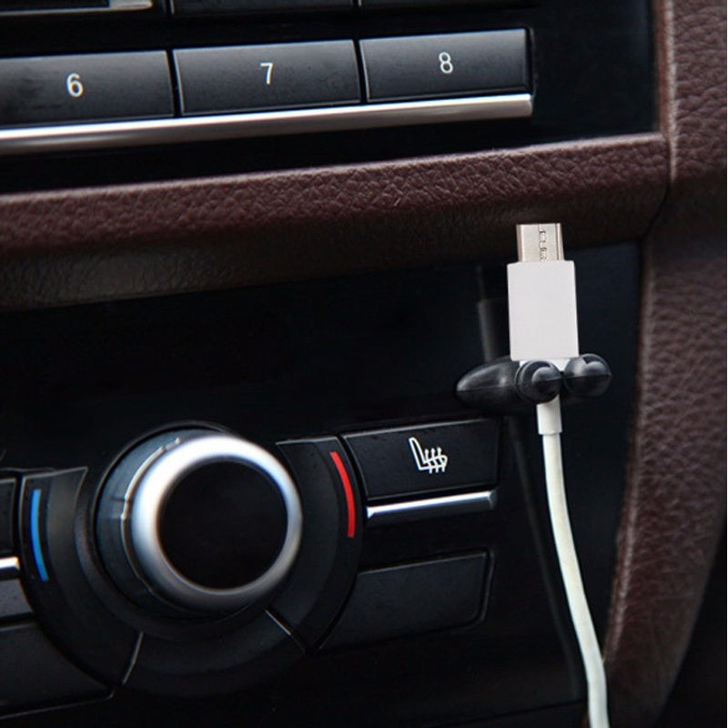 8x carregador de carro linha cabo usb clipe acessórios adesivo para fiat punto 500 stilo bravo grande punto palio panda linea uno marea