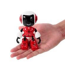 99611 مصغرة RC روبوت الذكية روبوت التحكم باللمس DIY بها بنفسك النمذجة الحديث مصباح ليد RC اللعب حامل هاتف هدية للأطفال الأطفال