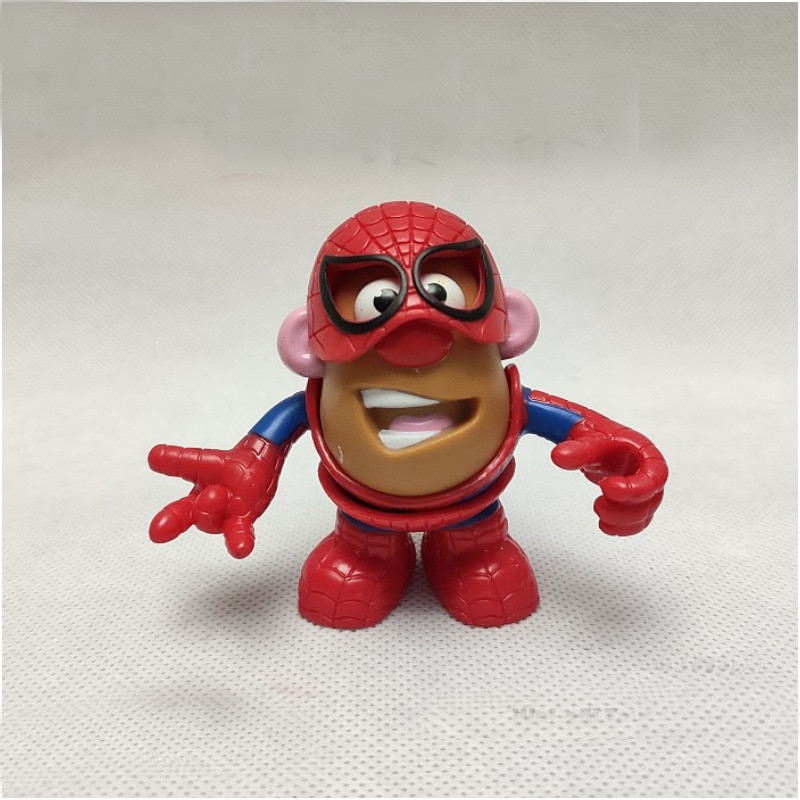 Los Vengadores de Marvel spiderman-hombre de hierro el señor cabeza de patata Sr. Patata Humpty Dumpty Cosplay héroes combinables figura juguetes de figuras de Pvc