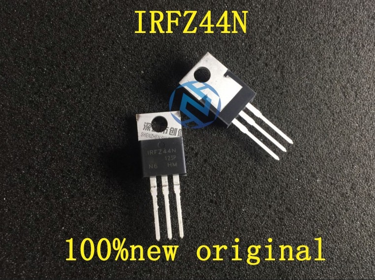 100% original 50 PÇS/LOTE IRFZ44N IRFZ44 MOSFET 49A 55 V PARA-220