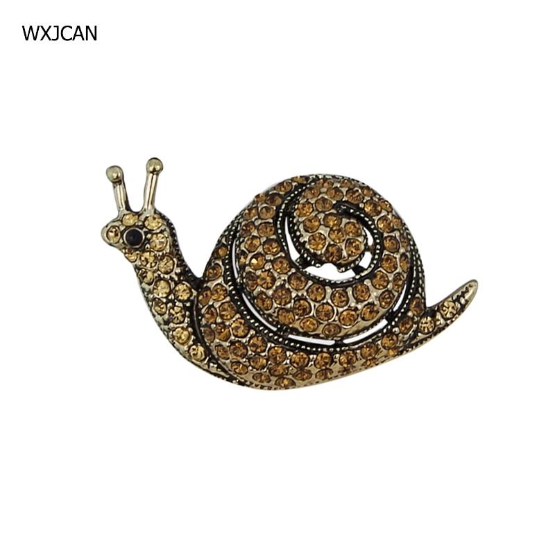 Wxjcan inseto caracol broche pinos de alta qualidade micro-cristal embutidos luxo vintage broches 40mm * 25mm b5557