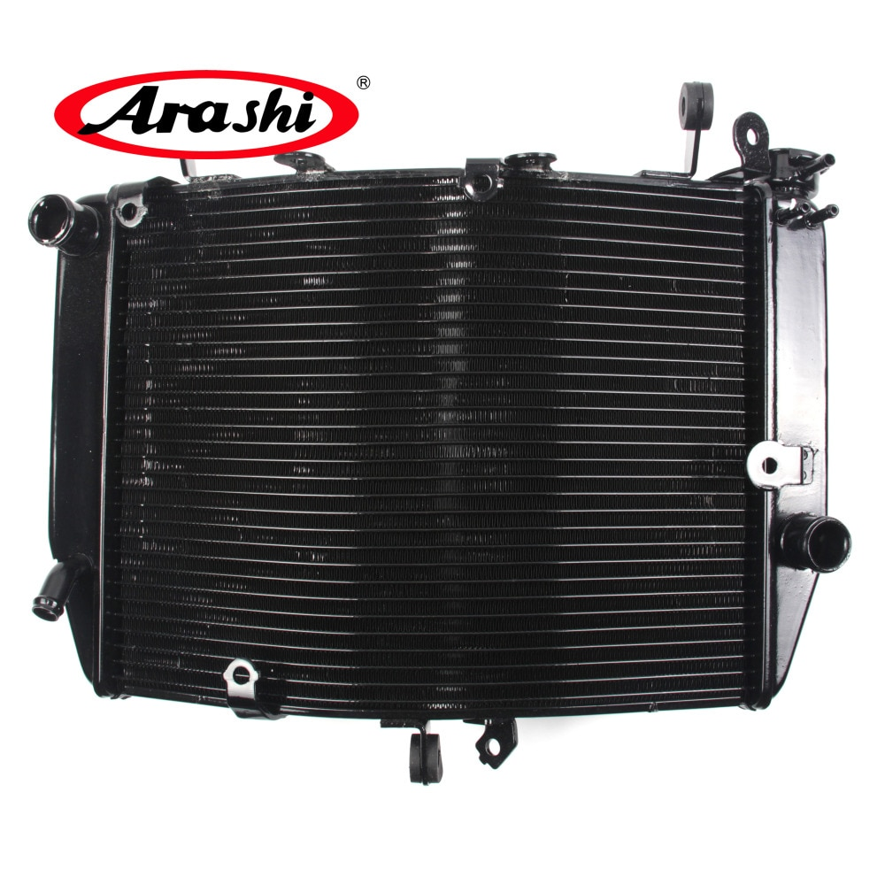 Arashi nuevo radiador para YAMAHA YZF R6 2003 2004 motocicleta ventilador de enfriamiento de aluminio agua de refrigeración parte YZF-R6