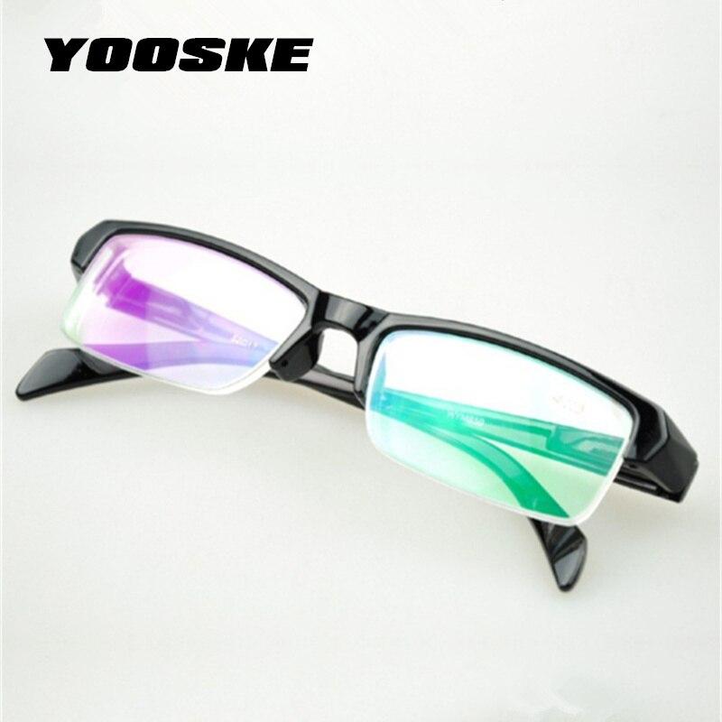 YOOSKE полуоправа HD очки для близорукости из смолы женские высококачественные дешевые черные оправы по рецепту-2,5-1,5 мужские очки минус линзы