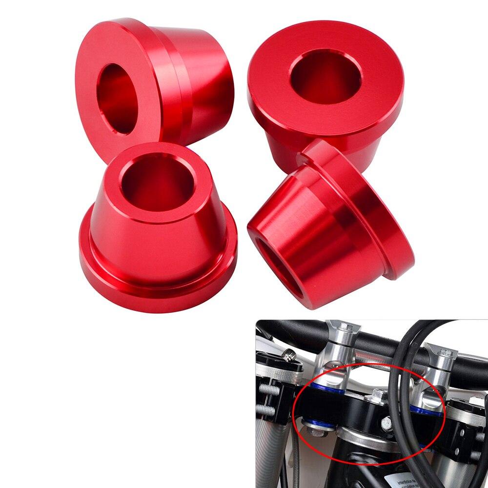NICECNC Handlebar Clamp Mount Bushings For Honda CR125R CR250R CRF250R CRF450R CRF450RX 2017 2018 CR 125R 250R CRF 450R 450RX