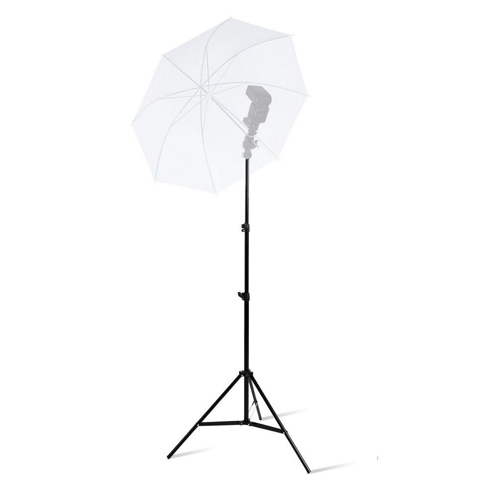 Trípode con soporte para luz de 2M con cojinete de cabeza de tornillo 1/4 para iluminación Reflector de paraguas de Flash Softbox de estudio