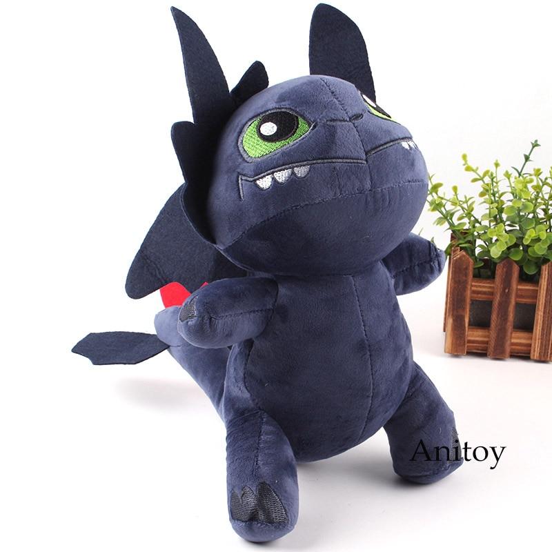 Anime cómo entrenar a tu dragón Night Fury Kawaii juguetes de peluche sin dientes dragón juguete suave de peluche 28cm