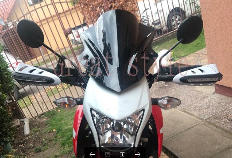 Nova moto moto moto rbike windshield windscreen para suzuki para honda para ducati para kawasaki yamaha cruzadores padrões