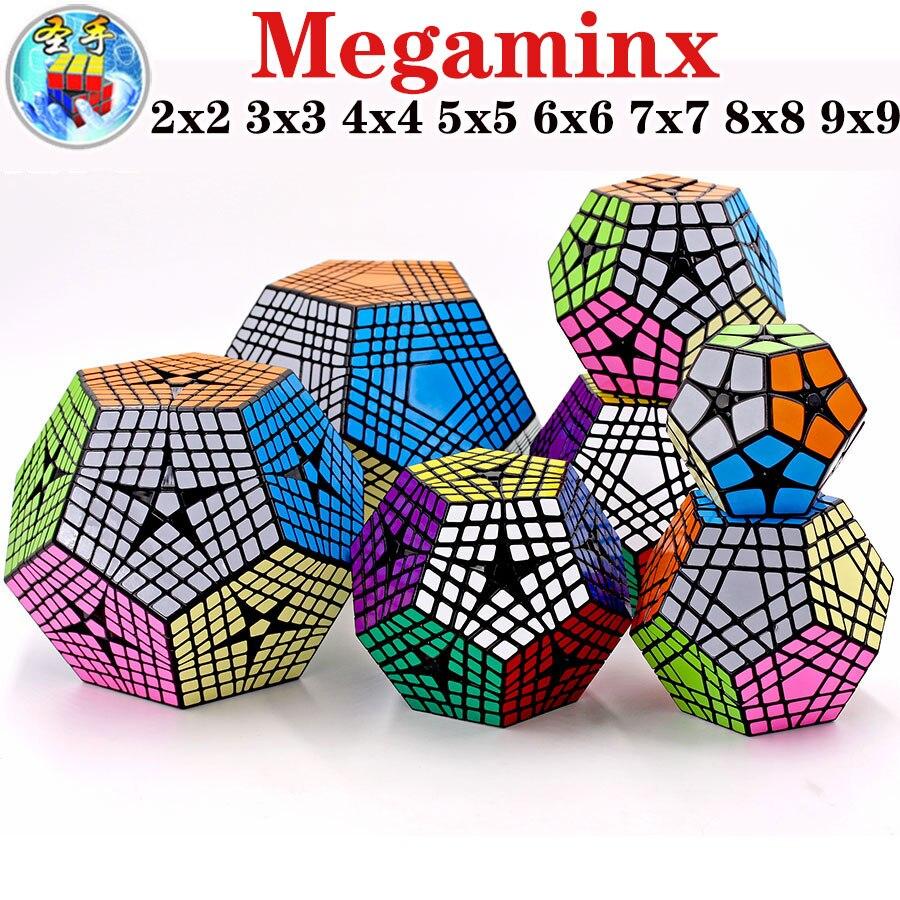 ألعاب تعليمية للمحترفين SengSo QiYi Megamin X Cube 4x4 5x5 6x6 7x7 8x8 9x9 SO Dodecahedron megaminxads