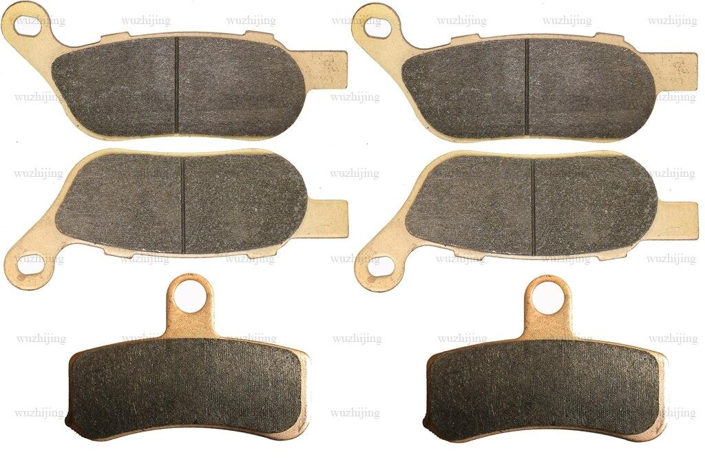 Para harley fxdf 1584 dyna fatbob 2008 - 2012 conjunto de pastilhas de freio dianteiro traseiro 2011 2010 2009