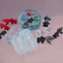 3D vivo pez molde de silicona para colgantes de resina de manualidades fabricación de joyas herramientas
