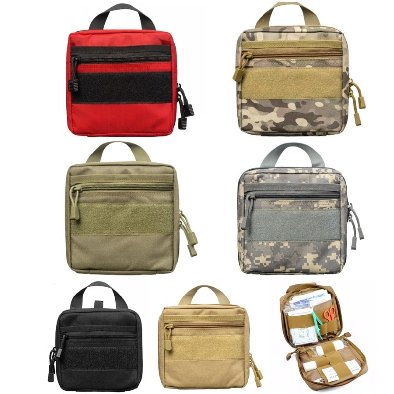 CQC 1000D Military Utility EDC Tool Survival Waist Pack Airsoft Tactical Molle Medical First Aid Pouch Outdoor Hunting Bag
