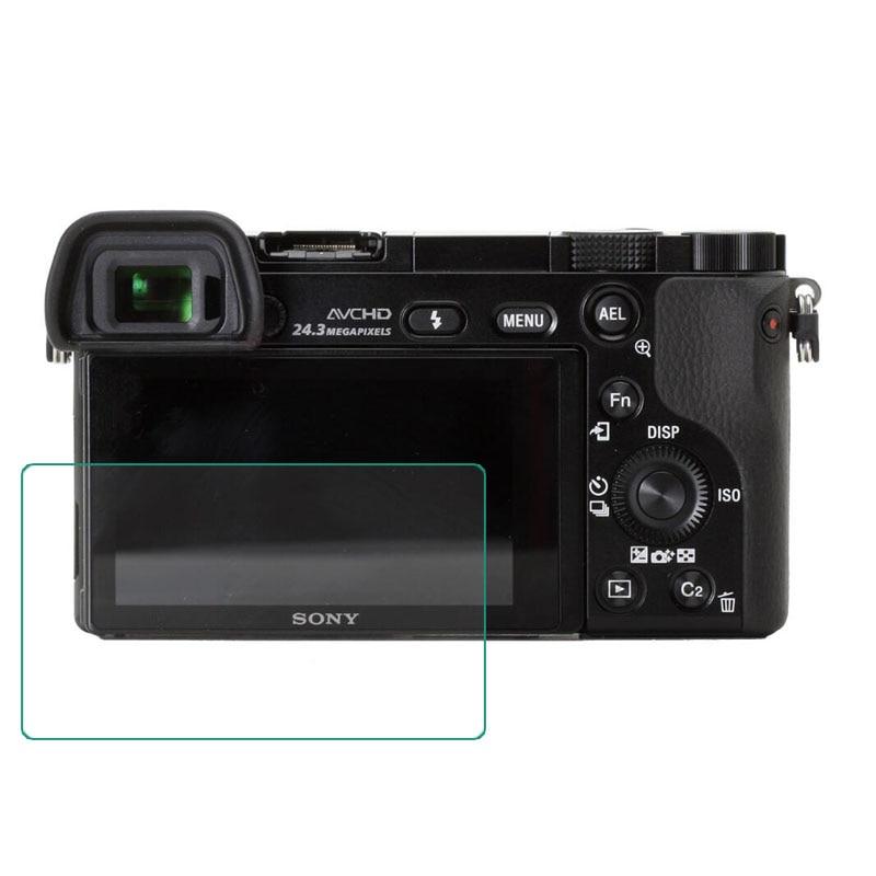 Protector de pantalla de vidrio templado para Sony A6000 A6300 A5000 NEX-7/6/5 A9 A7R A7 A7s A7II A7III A7RIII A7RII RX100 II, III, IV, V, VI