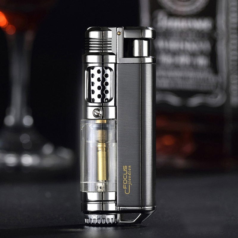 Metal TorchTurbo Lighter Cigar Cigarette Lighters supplies Electronic Lighter gas Lighter smoking ac