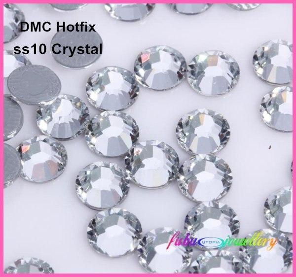 Freies Verschiffen! 1440 teile/los, ss10 (2,7-2,9mm) Hohe Qualität DMC Kristall Eisen Auf Rhinestones/Hotfix Strass