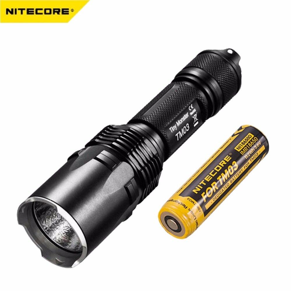 Nitecore TM03 linterna LED CREE XHP70 LEDs linterna táctica 2800 lúmenes con TM03 18650 para caza pesca envío gratis