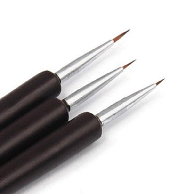 Juego de pinceles profesionales para uñas, accesorios de manicura Nail Art, pincel para uñas acrílicas, 3 uds.