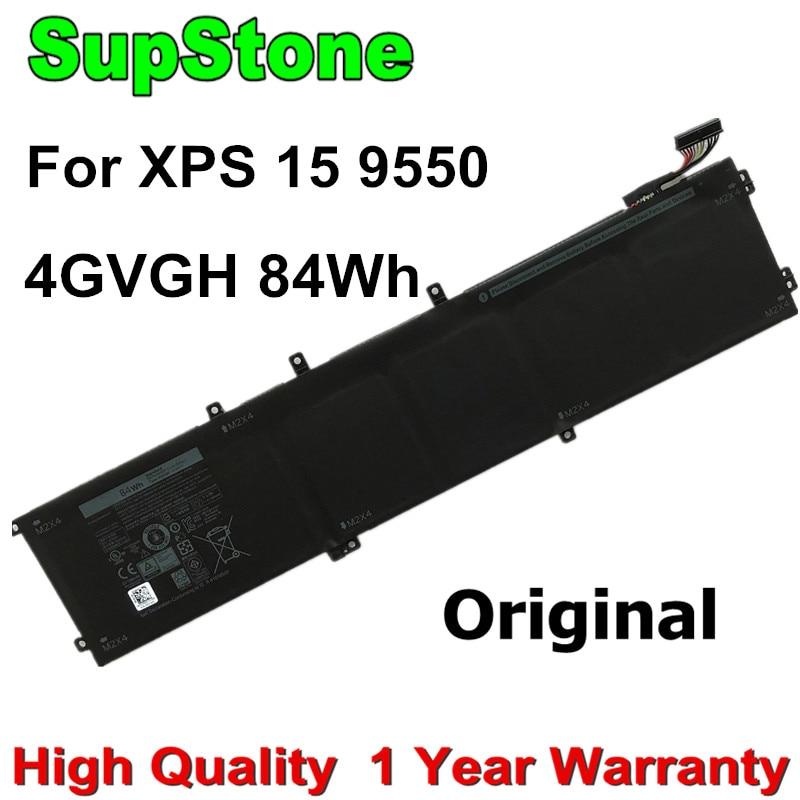 SupStone 84Wh حقيقية الأصلي 4GVGH 1P6KD بطارية كمبيوتر محمول لديل XPS 15 9550 ، الدقة 5510 M7R96 P56F P56F001 T453X 62MJV