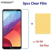 Lg g6 플러스 지우기 lcd 화면 보호기에 대 한 3 pcs lg g6 보호 필름에 대 한 lg g6 화면 필름 호 일 가드 커버 피부 보호기