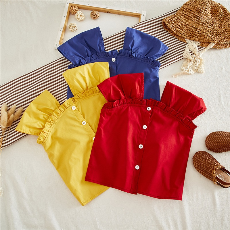 Mihkalev 2020, tops y blusas de verano para niñas, para 4 años, Camiseta de algodón para niñas, ropa para niños, camiseta eslinga de los niños, disfraz