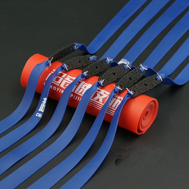 Bandas de goma para tirachinas, Color azul, 0,85 MM, 2 uds.