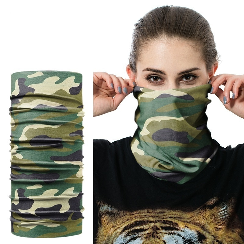Jamont novo multi funcional bandana quente bandana camuflagem folhas sem costura tubo mágico tubular anel cachecol pescoço gaiter
