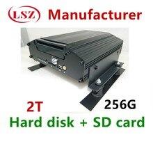 Fabricants   Disque dur de 4G monté sur voiture, enregistreur vidéo 4CH MDVR GPS, positionnement du véhicule, hôte de contrôle