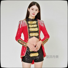 Custom Jazz Dance Tuxedo Modern Dance Costumes DS Nightclub Fashion Sequin Hanfu Bar Performance Female Singer Fashion