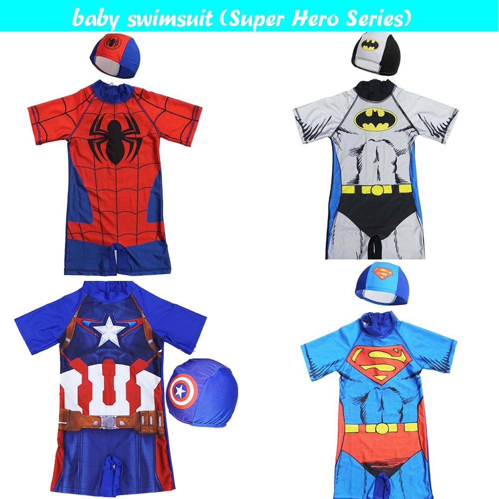 Цельный купальник для мальчиков; купальный костюм с миньонами; купальный костюм с Бэтменом для мальчиков; детская спортивная пляжная одежда для малышей