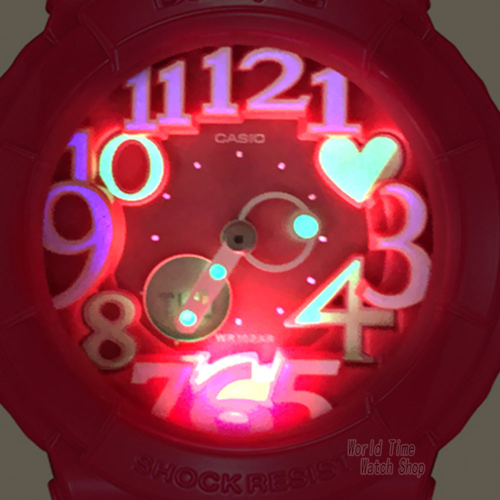 Casio watch BABY-G Women's quartz sports watch fashion trend neon light double display waterproof baby g Watch  BGA-130 enlarge