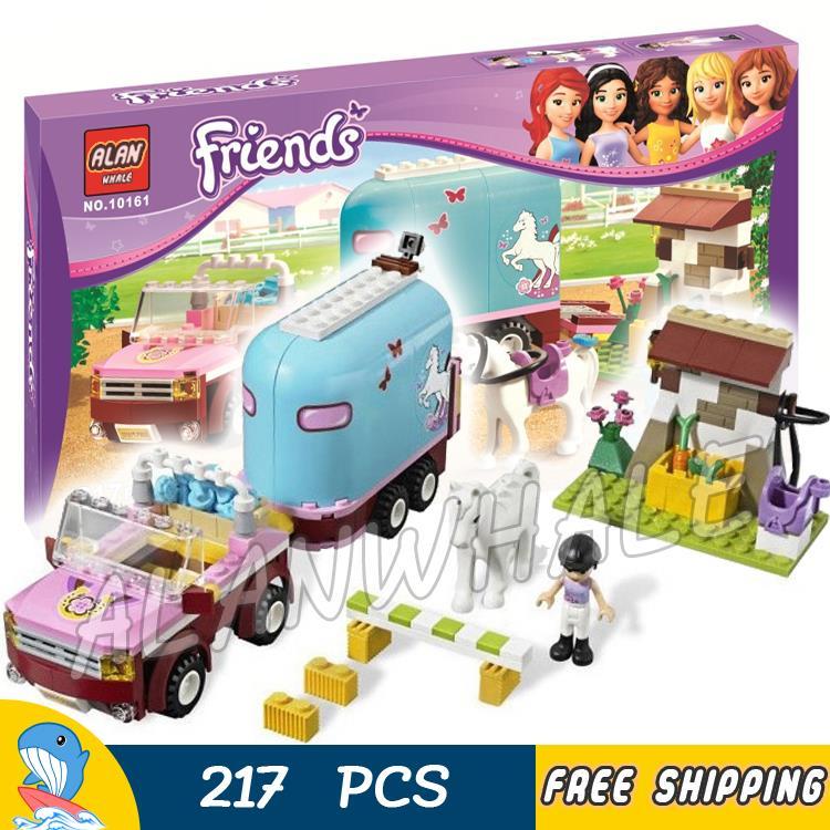 217 Uds. Amigos Heartlake City Emmas Horse Trailer 10161 figuras bloques de construcción encantadores juguetes para niños compatibles con LegoING