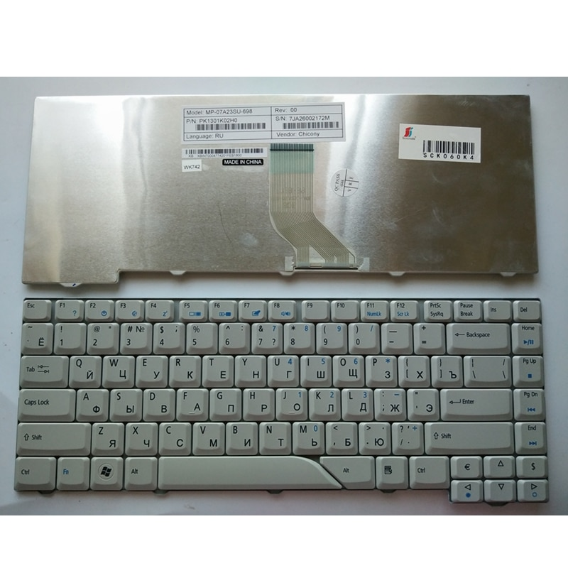 Nuevo ruso teclado para Acer Aspire 5715 5715Z 5720G 5720Z 5720ZG 5910G...