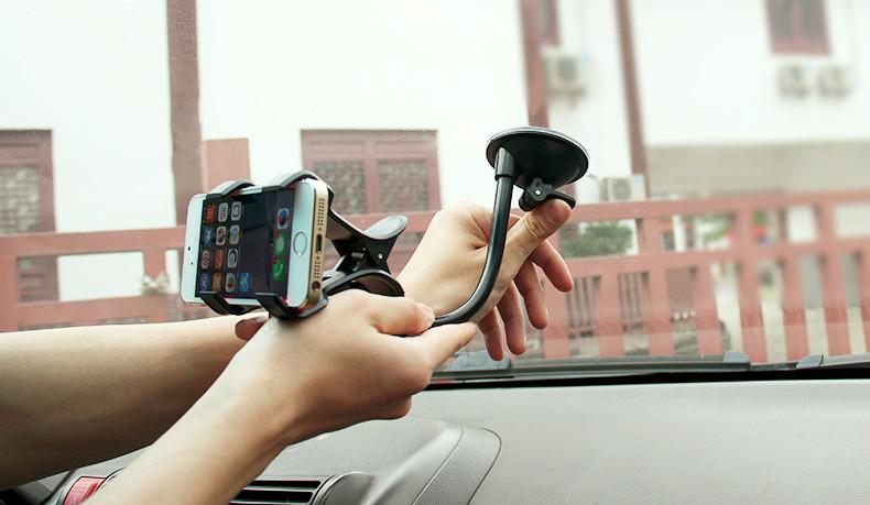 Uniwersalny uchwyt samochodowy uchwyt na telefon komórkowy dla iphone 6 6 s plus se obsługi stoiska dla samsung elastyczny uchwyt telefonu dla sony 5