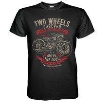 Vintage motocicletas camiseta Dkw 125 Rt-Biker Chopper Bopper Ifa Mz Awo kradt-shirt para camiseta de mangas cortas para hombre 100% algodón clásico