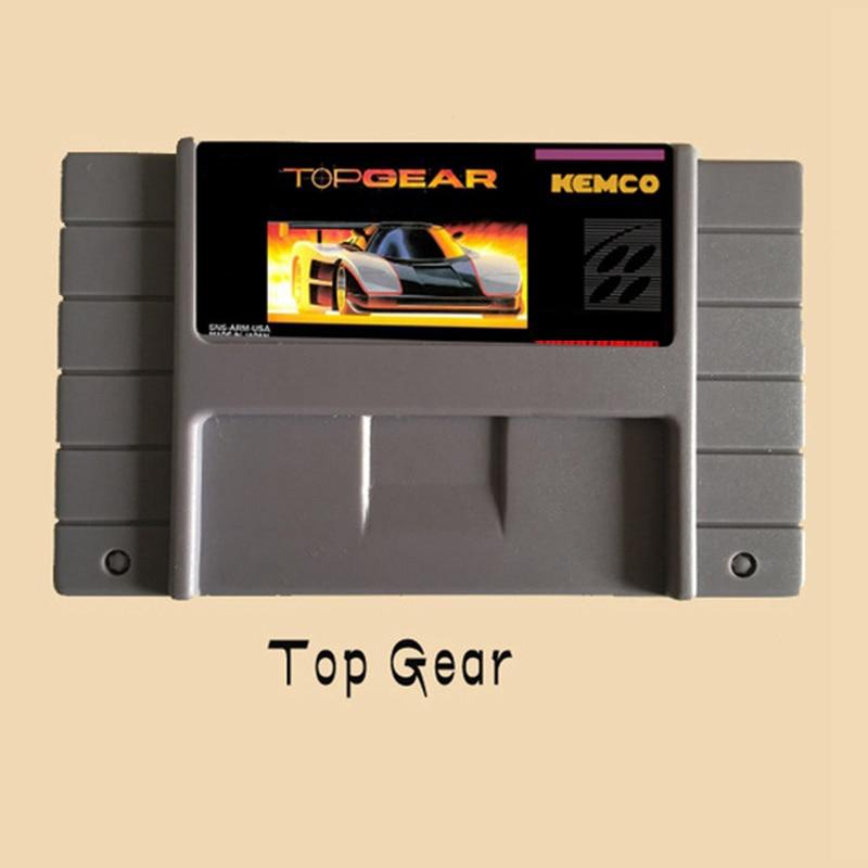 Tarjeta de juego gris grande de 16 bits de engranaje superior para el jugador de juego NTSC
