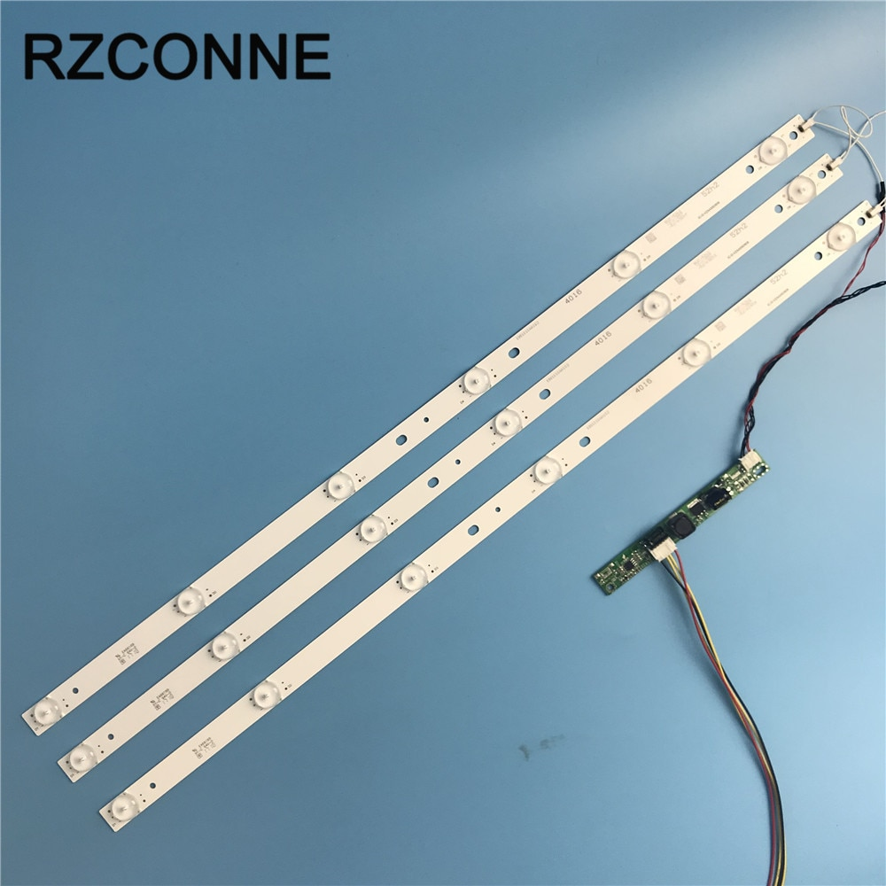 Juego de tira de luces LED de fondo Universal de 6leds de 575mm con objetivo óptico Fliter para TV o valla publicitaria LCD LED de 31,5 pulgadas y 32 pulgadas