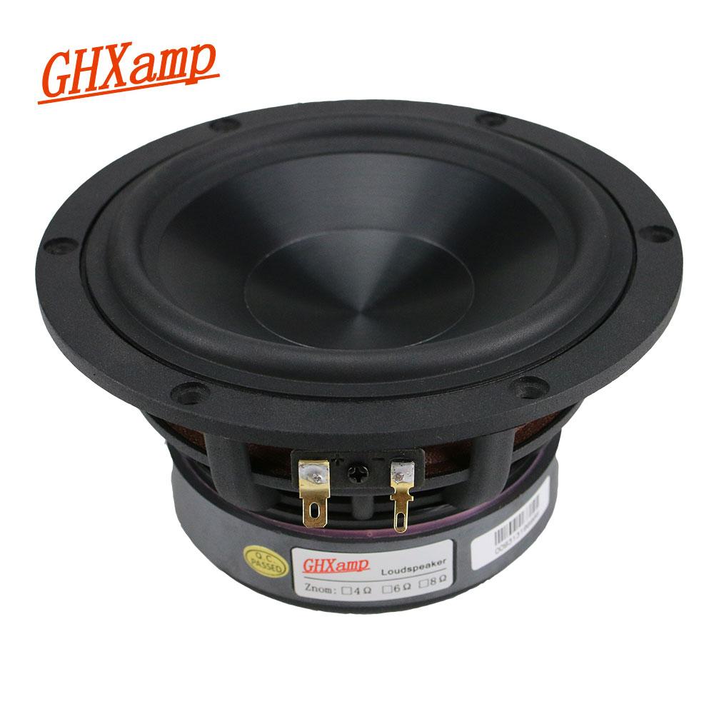 GHXAMP 5.25 بوصة مكبر الصوت وحدة اللغة 4ohm 60W مضخم صوت المسرح المنزلي العميق باس مكبر الصوت الألومينا السيراميك ل رف 1 قطعة