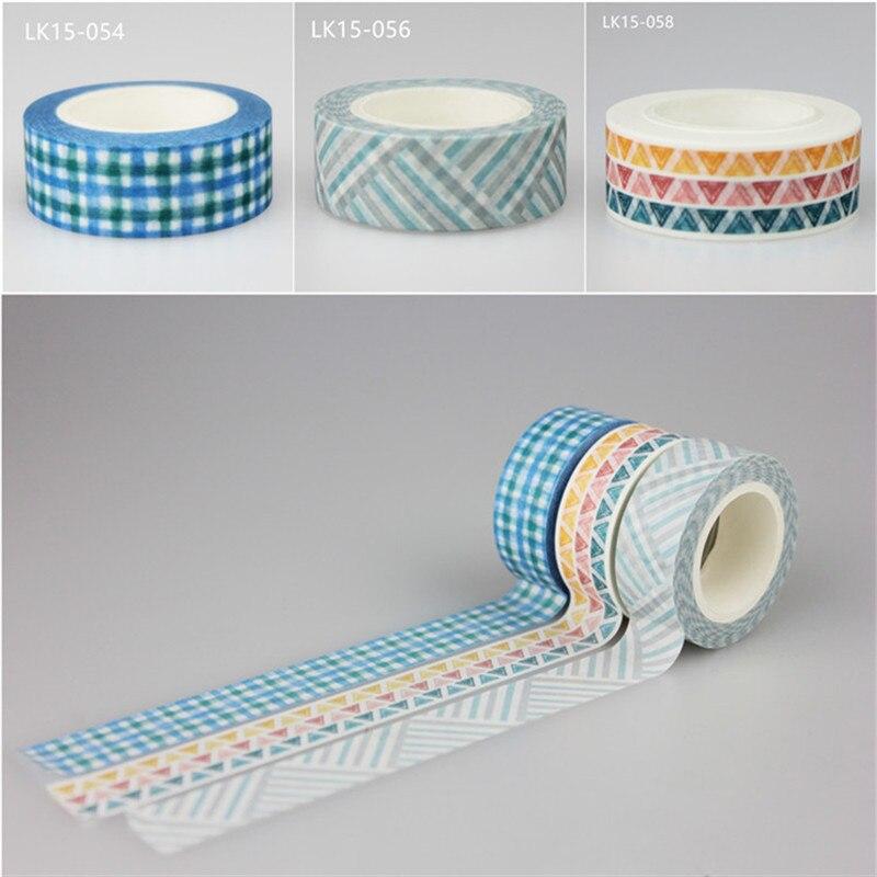1 unidad kawaii cinta washi hermosa rejilla DIY decoración planificador de colección de recortes cinta adhesiva etiqueta escuela Oficina suministros