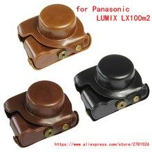 Camera bag for Panasonic LUMIX DMC-LX100m2 LX100II Camera case Retro PU leather case